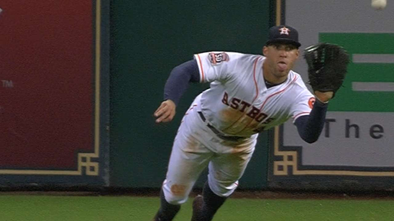 Springer's two diving catches