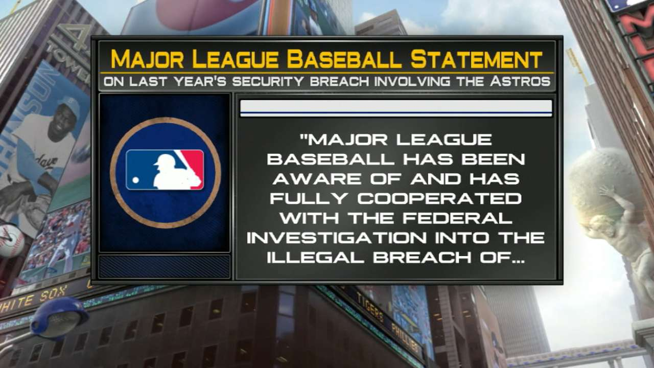 MLB on Astros' computer breach