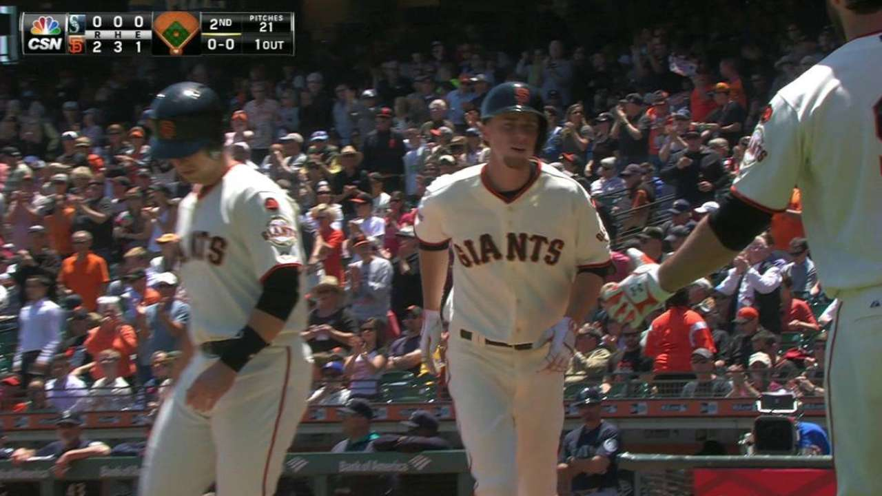 Duffy dominates at plate in Giants' victory