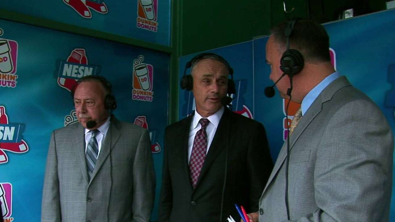Manfred on pace of play, DH