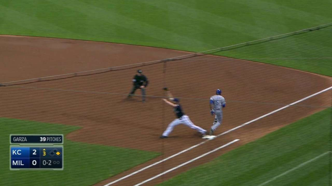 Cain reaches on overturned call
