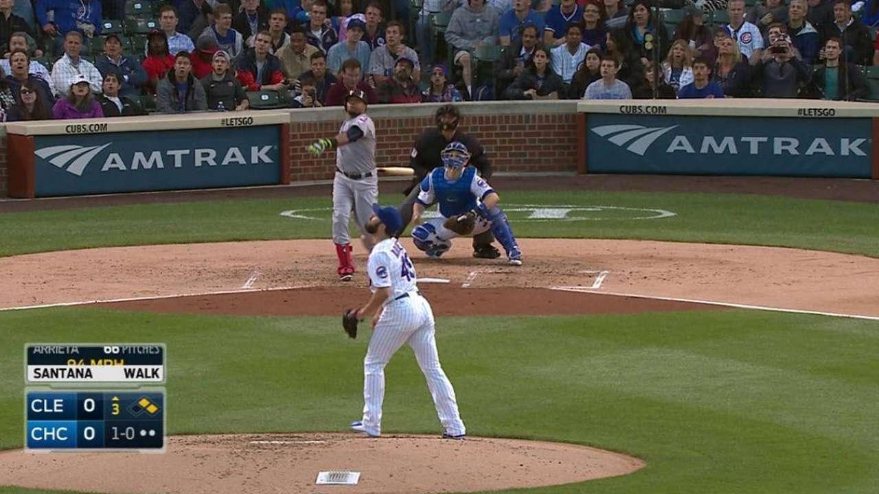 Santana, Bauer lead Tribe to shutout of Cubs