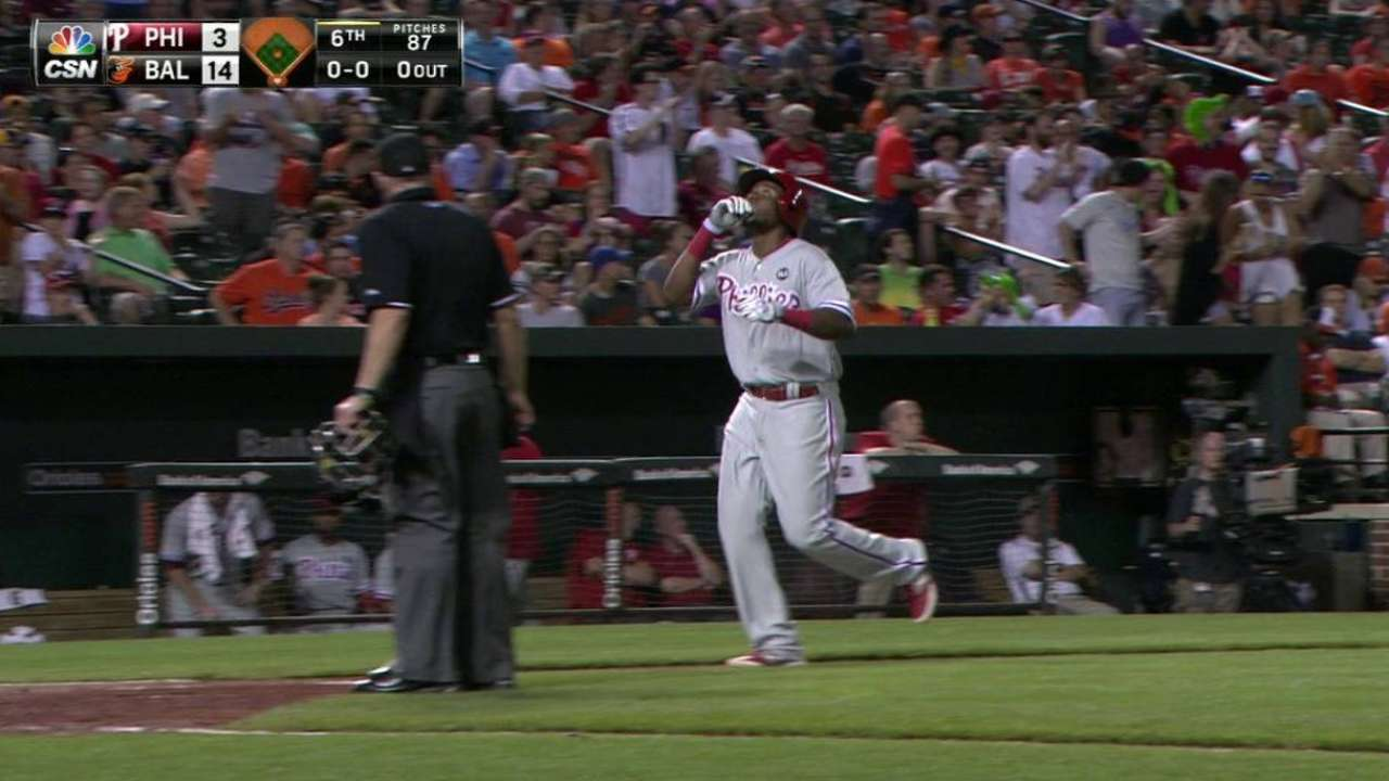 Franco's two-run homer