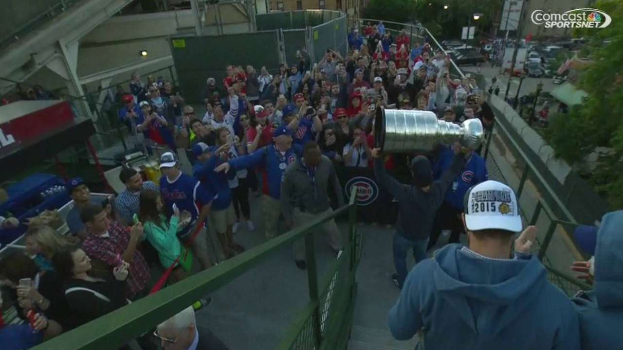 Stanley Cup at Wrigley