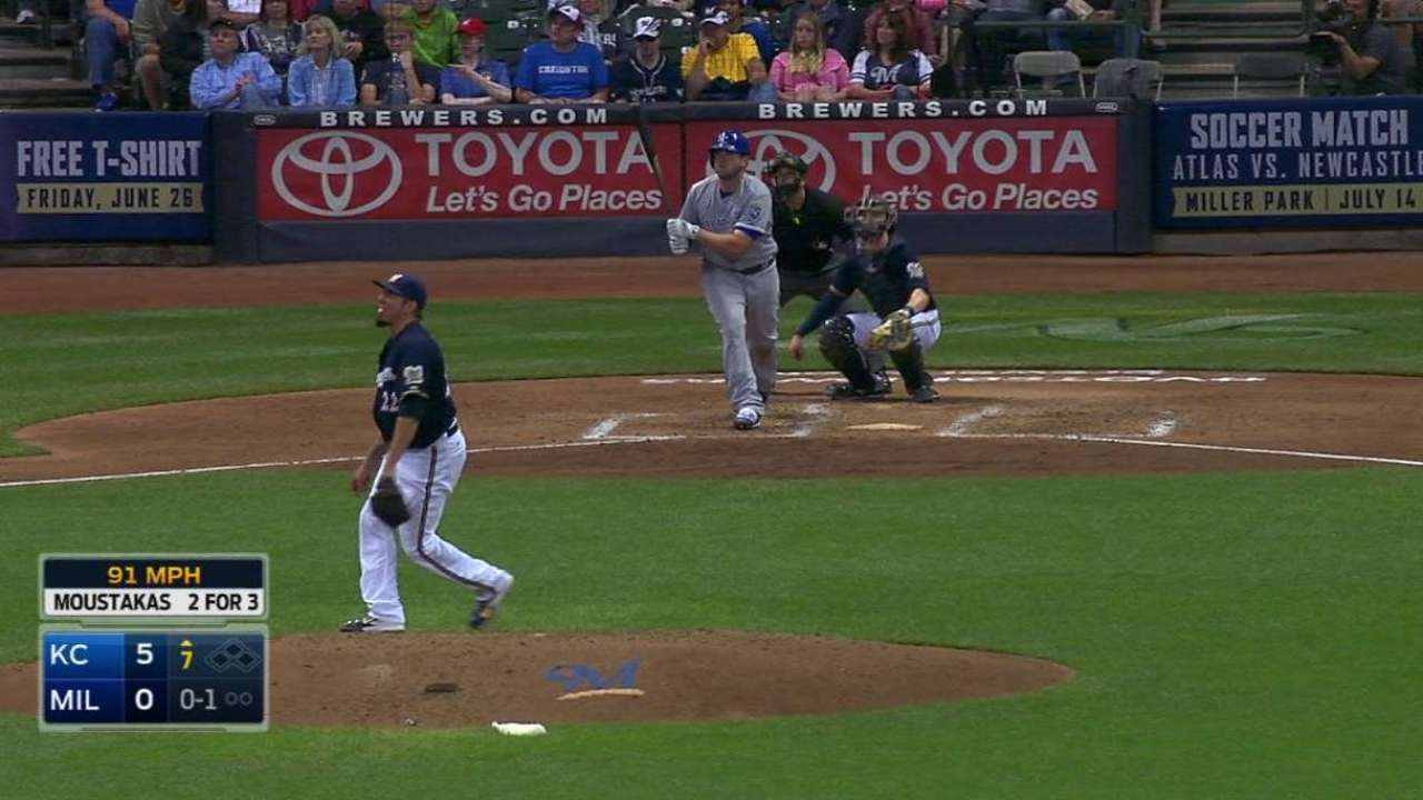 Moustakas' solo shot