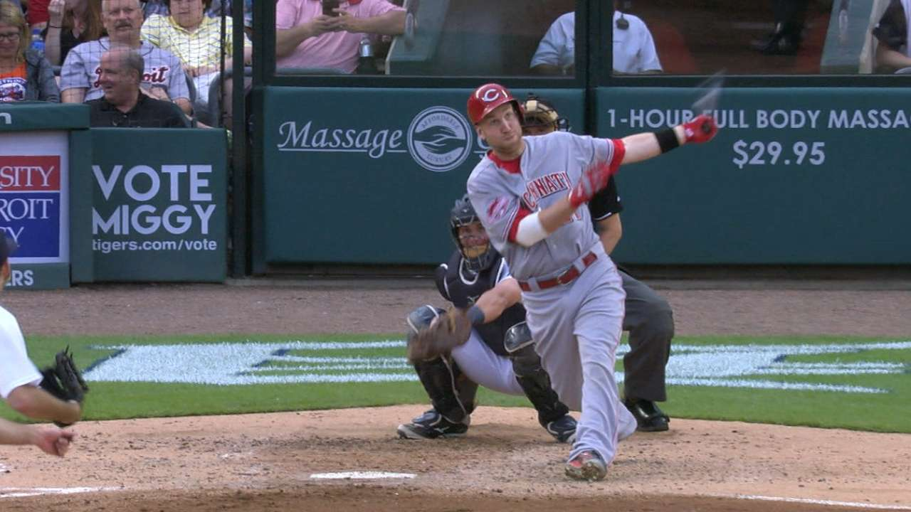 Homers, Lorenzen power Reds past Tigers