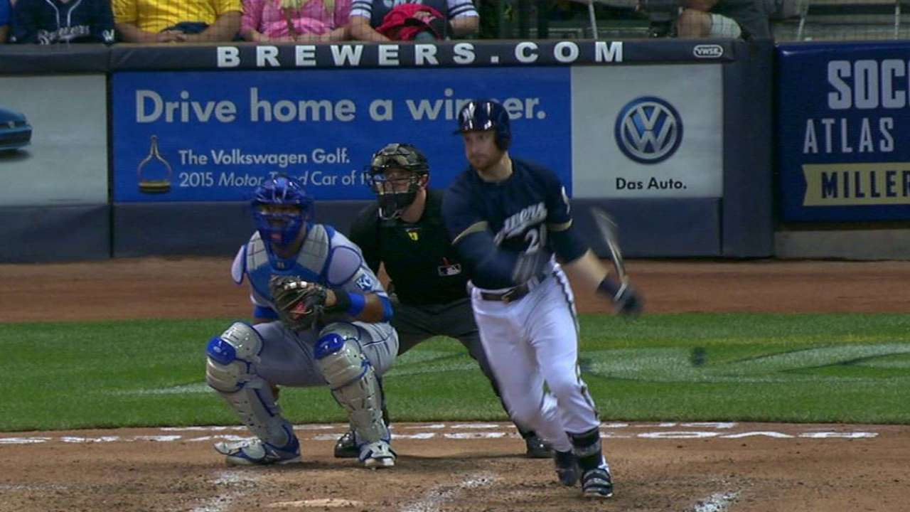 Lucroy's RBI single