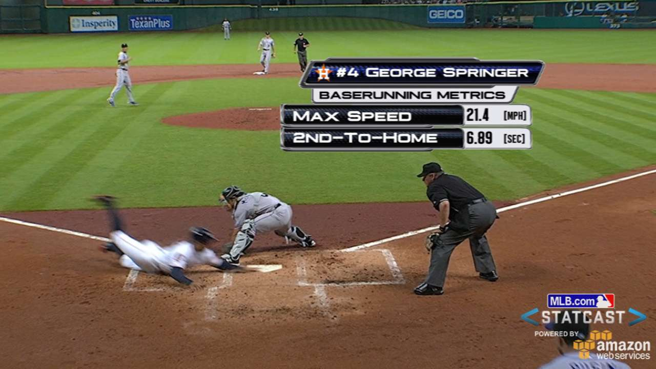 Statcast: Springer speeds home