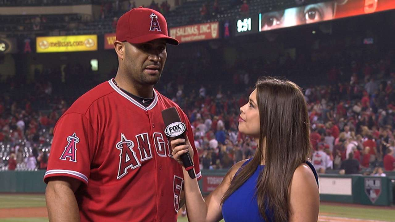 Pujols making case for All-Star Game nod