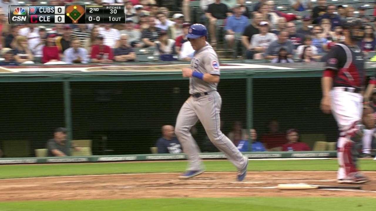 Schwarber's RBI triple