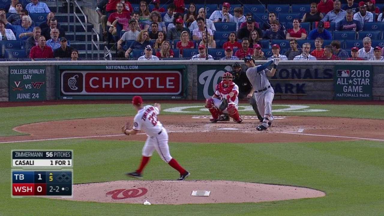 Casali's first career home run