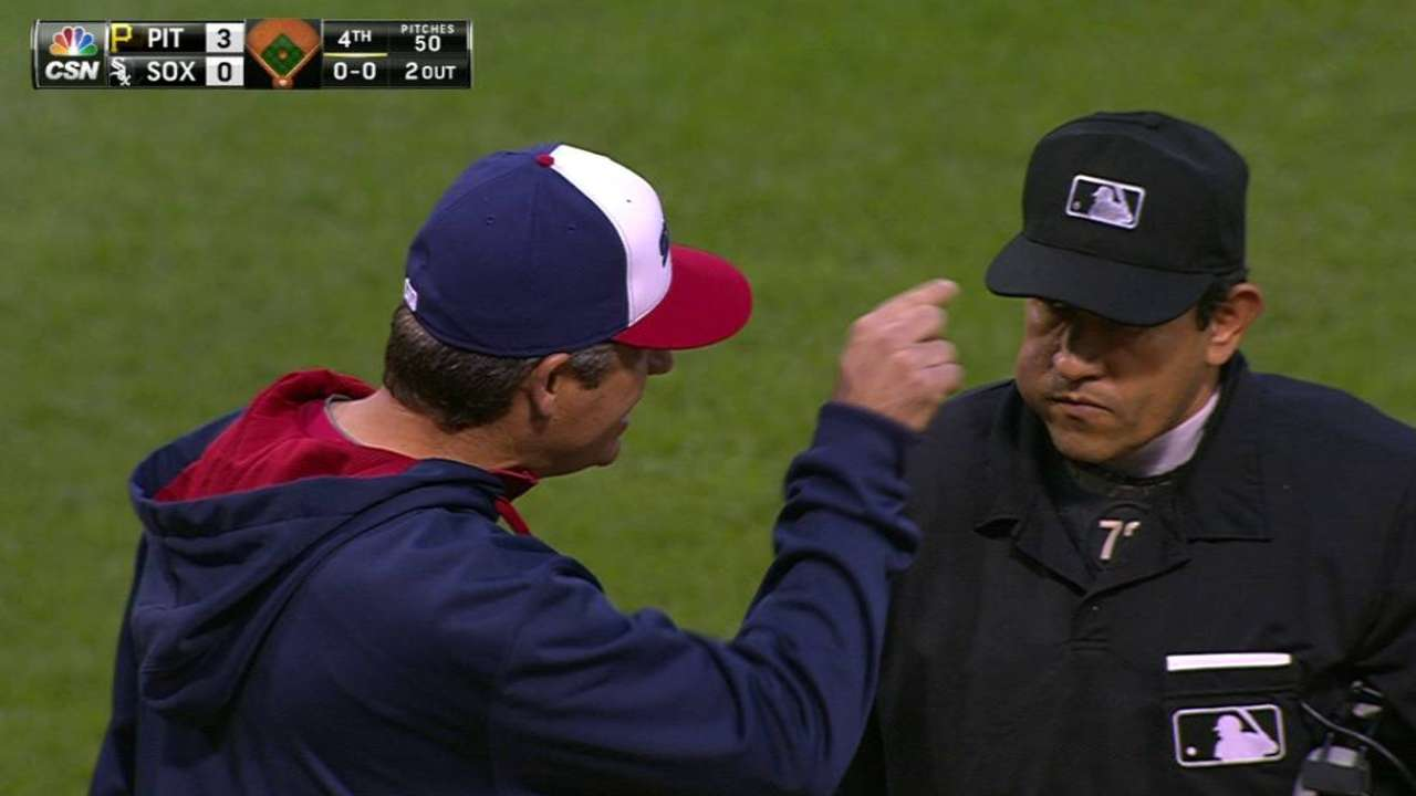 Ventura ejected arguing batter's interference