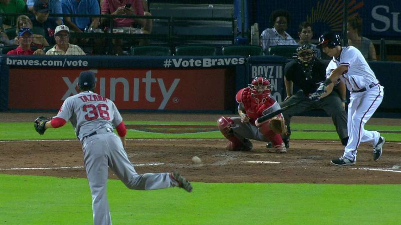 Castro's first MLB hit