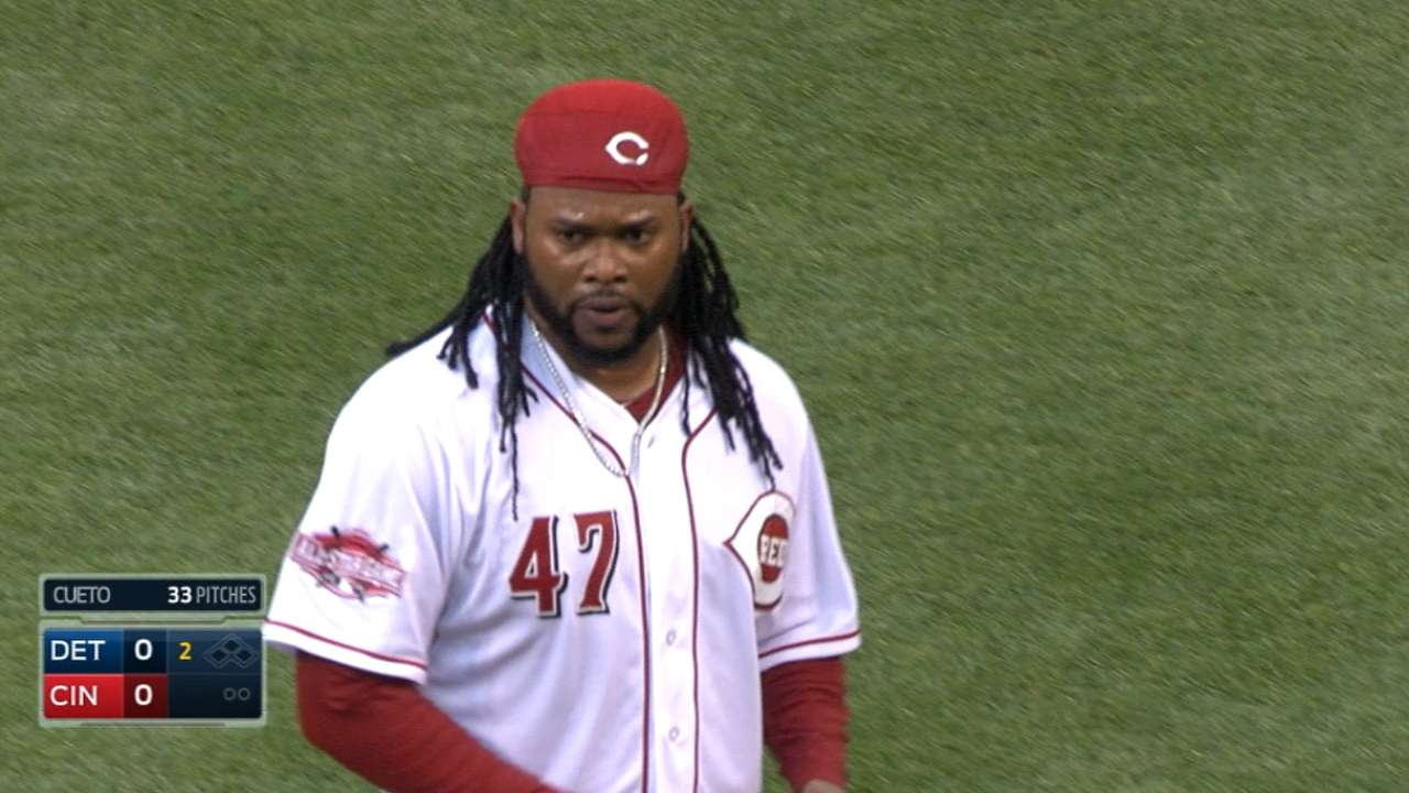 Reds push Cueto back; Smith to debut