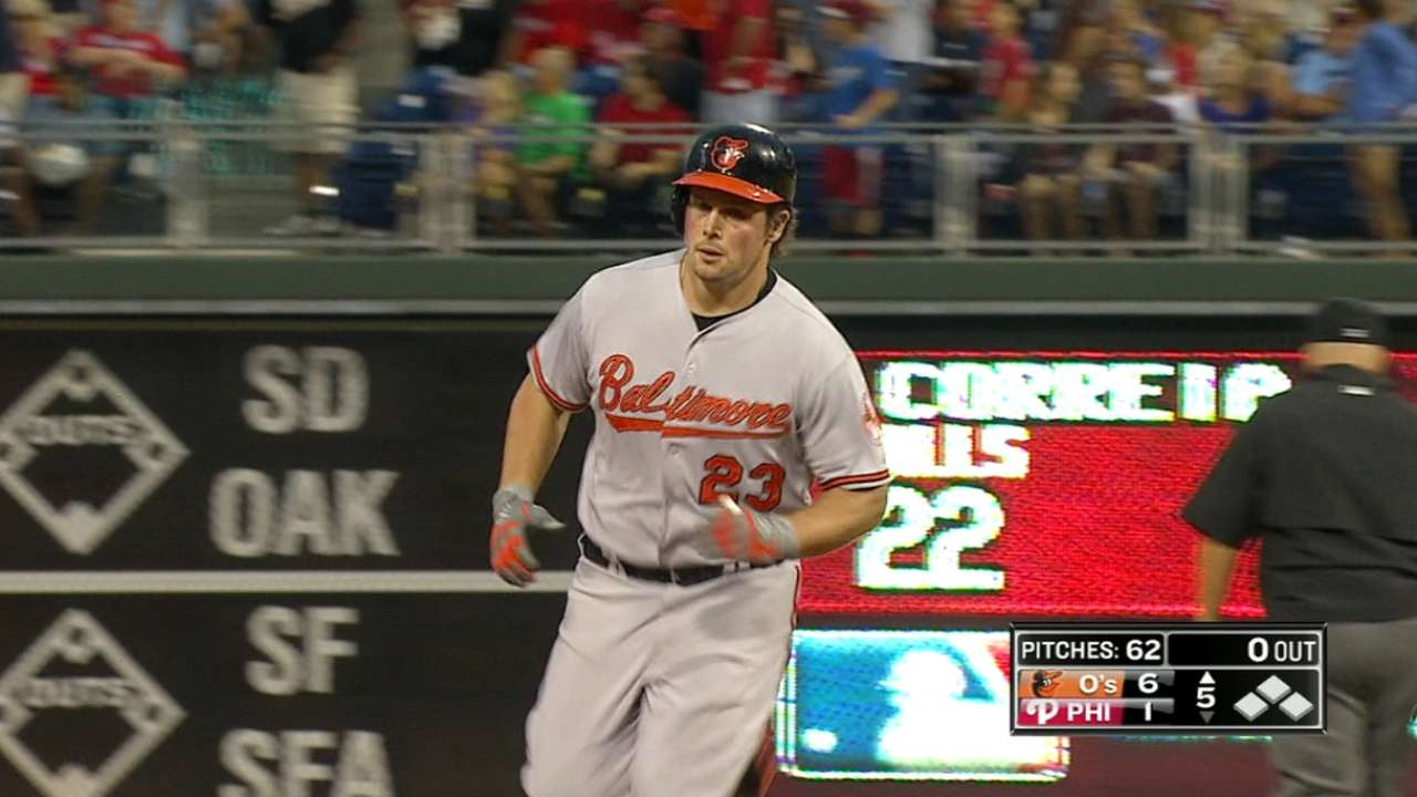 Role players carrying several hot bats for O's