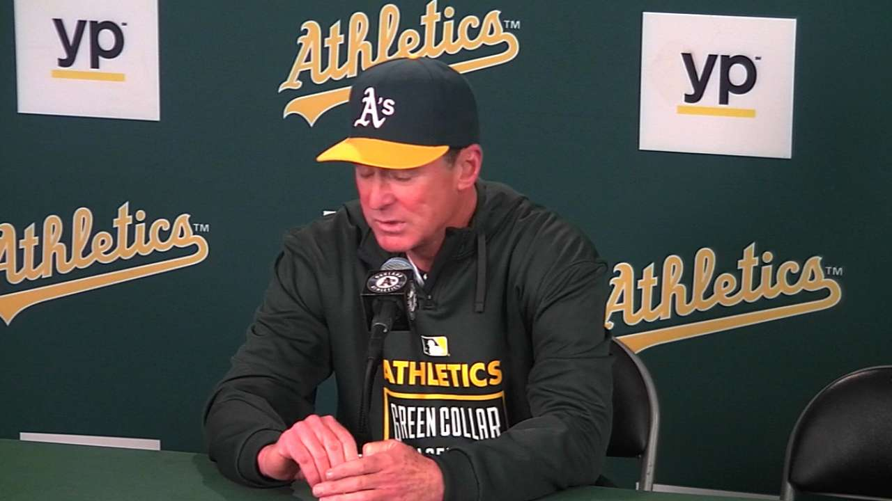 Melvin on A's offensive outburst