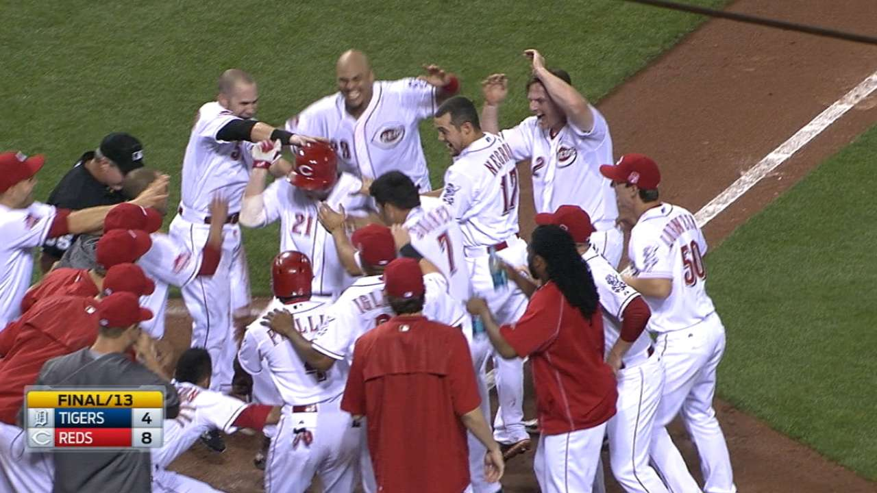Grand exit for Reds on Frazier's walk-off slam