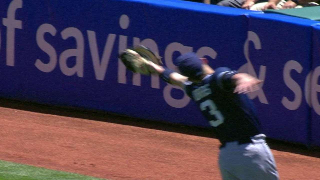 Norris makes debut at first base