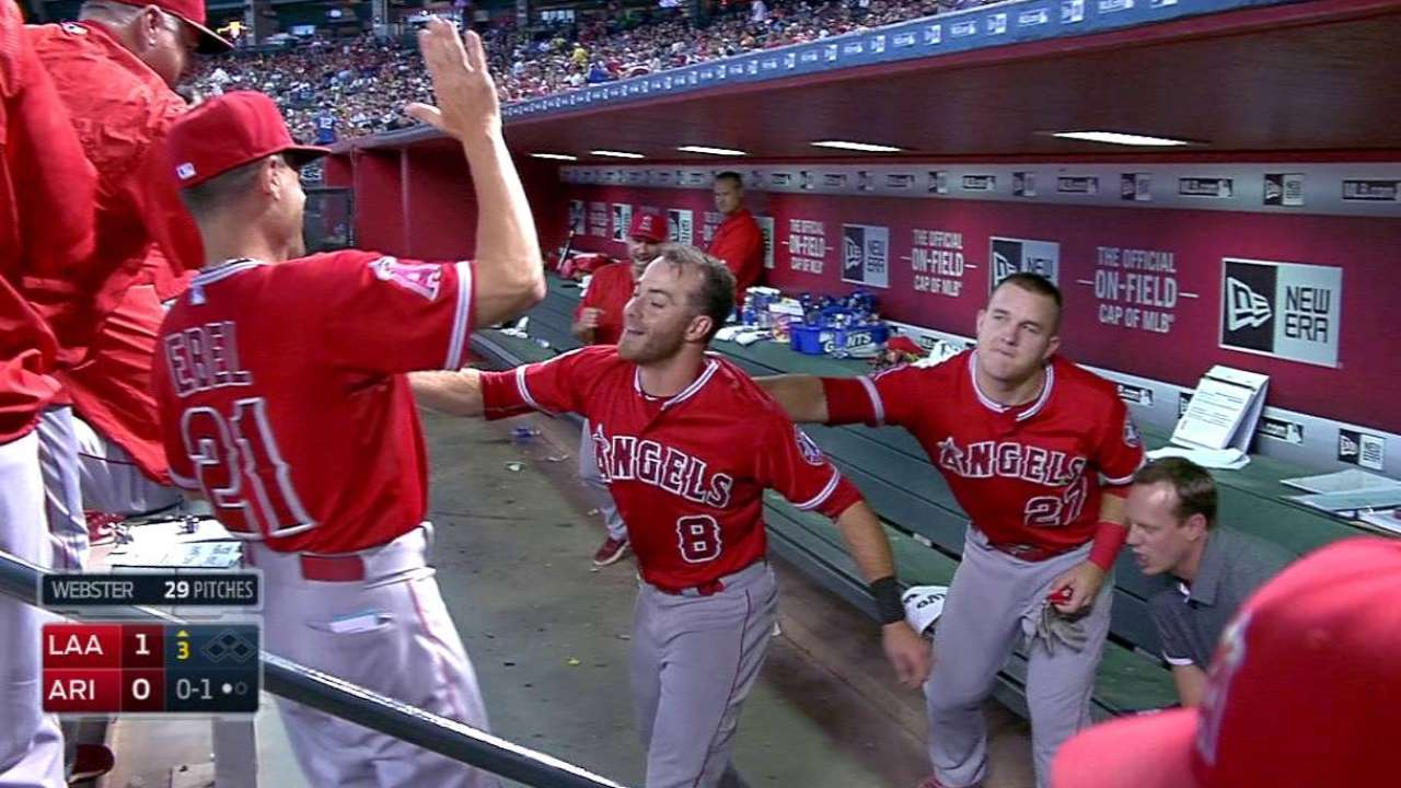 Featherston's first MLB homer