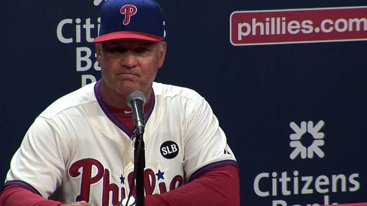 Sandberg on Phillies' victory