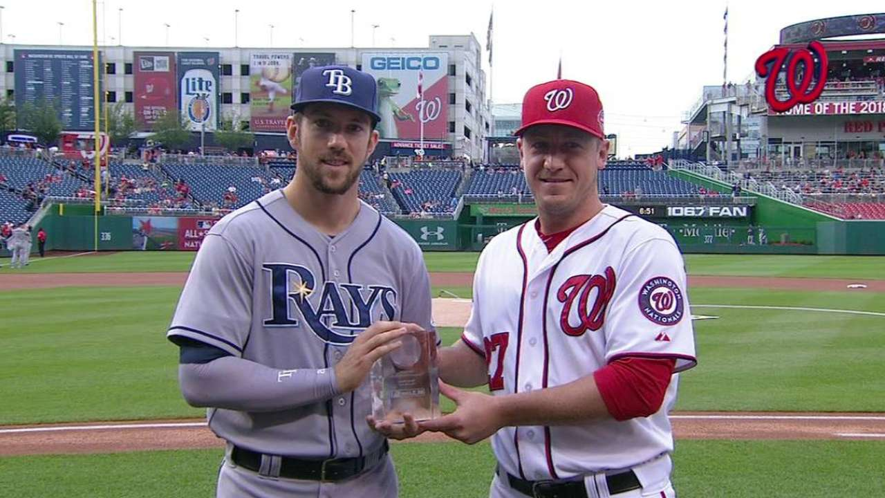 Souza accepts GIBBY at Nationals Park