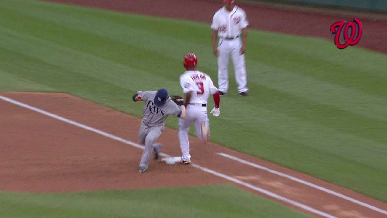 Taylor safe at first