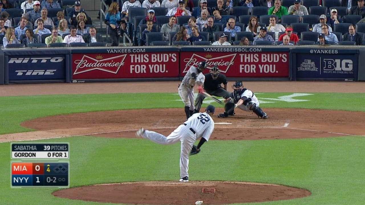 Gordon's 4th-inning triple