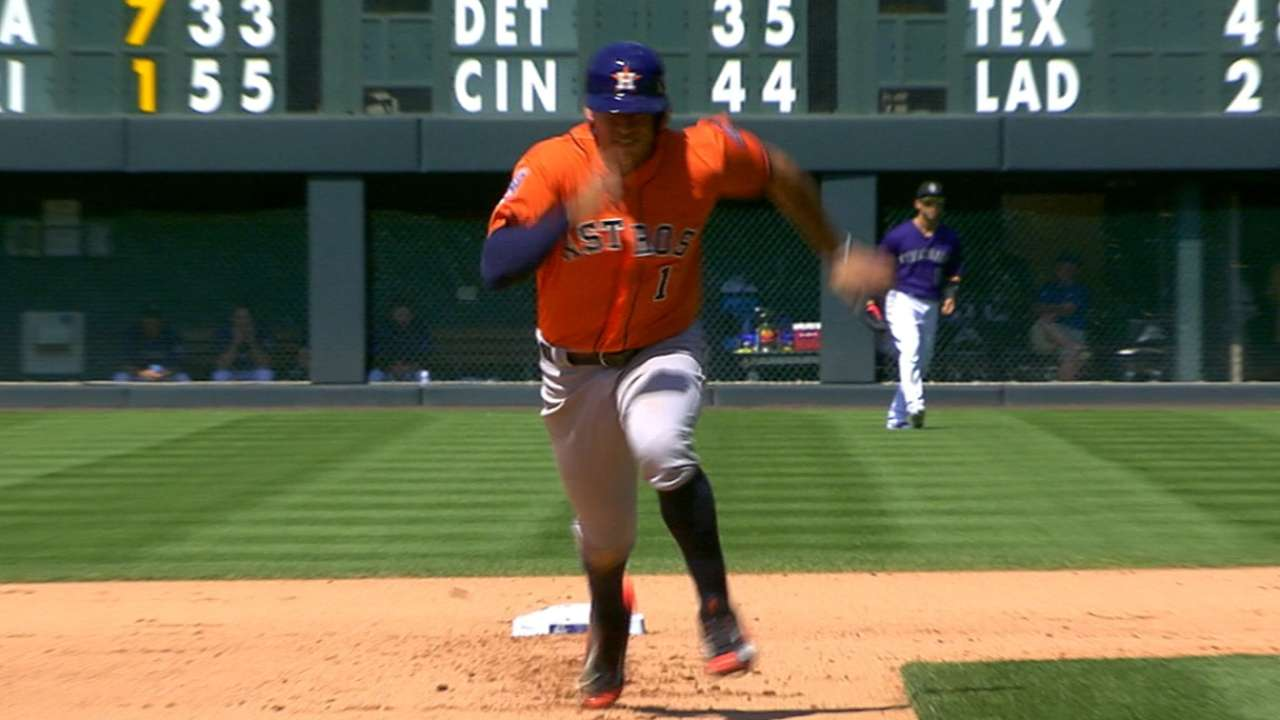 Correa sprints to record books with 3 steals