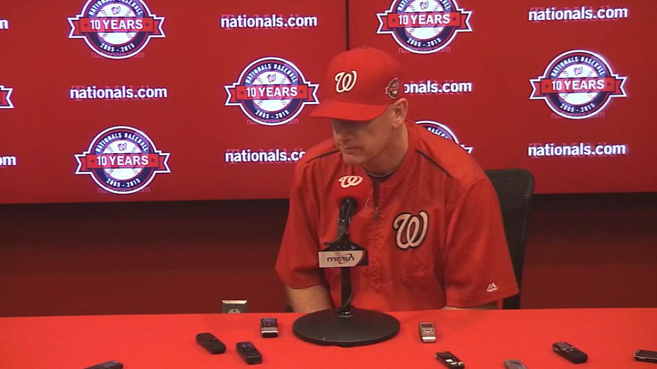 Williams on Nationals' 5-3 loss