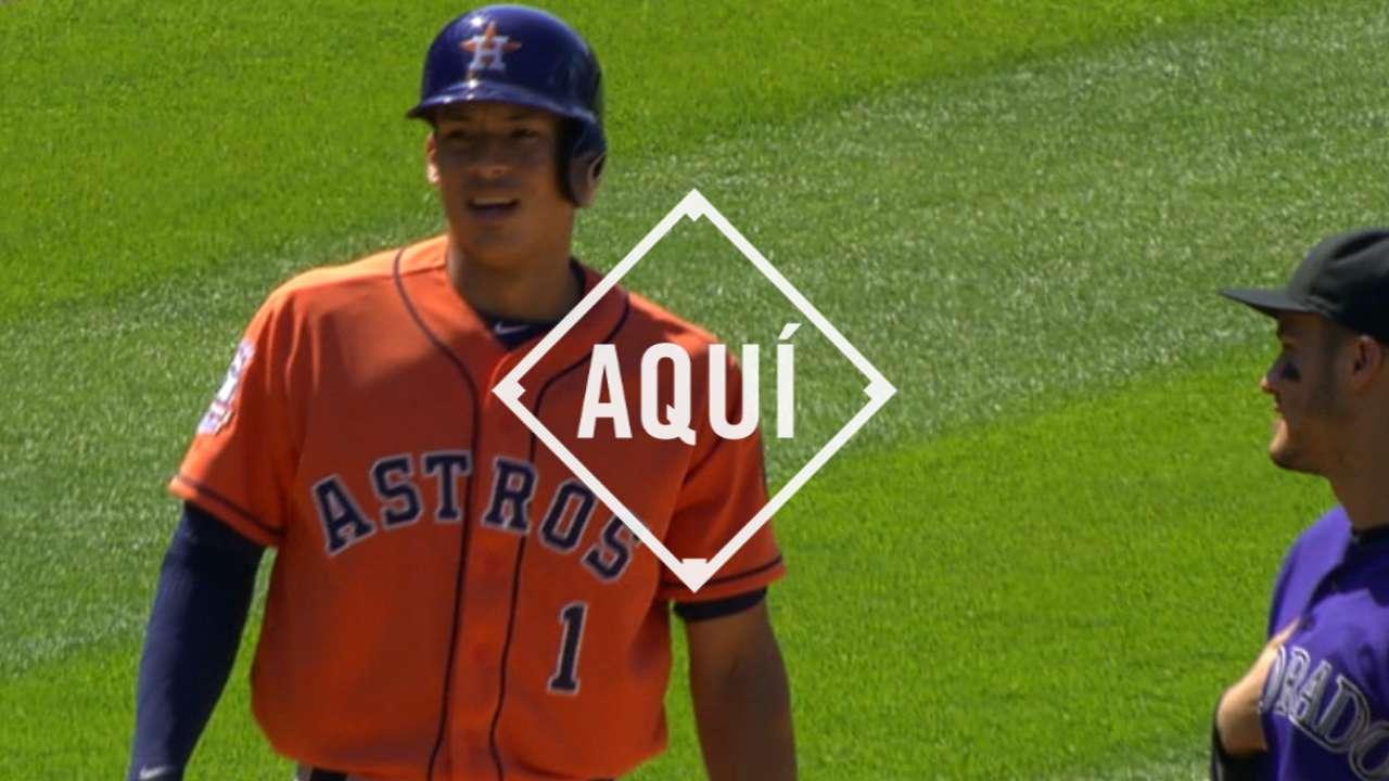Carlos Correa ha impresionado a todos desde que subió a Astros