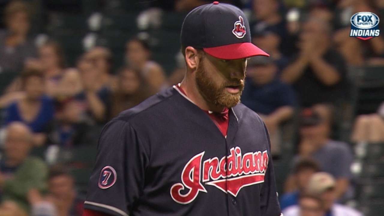 Indians' arms K seven straight