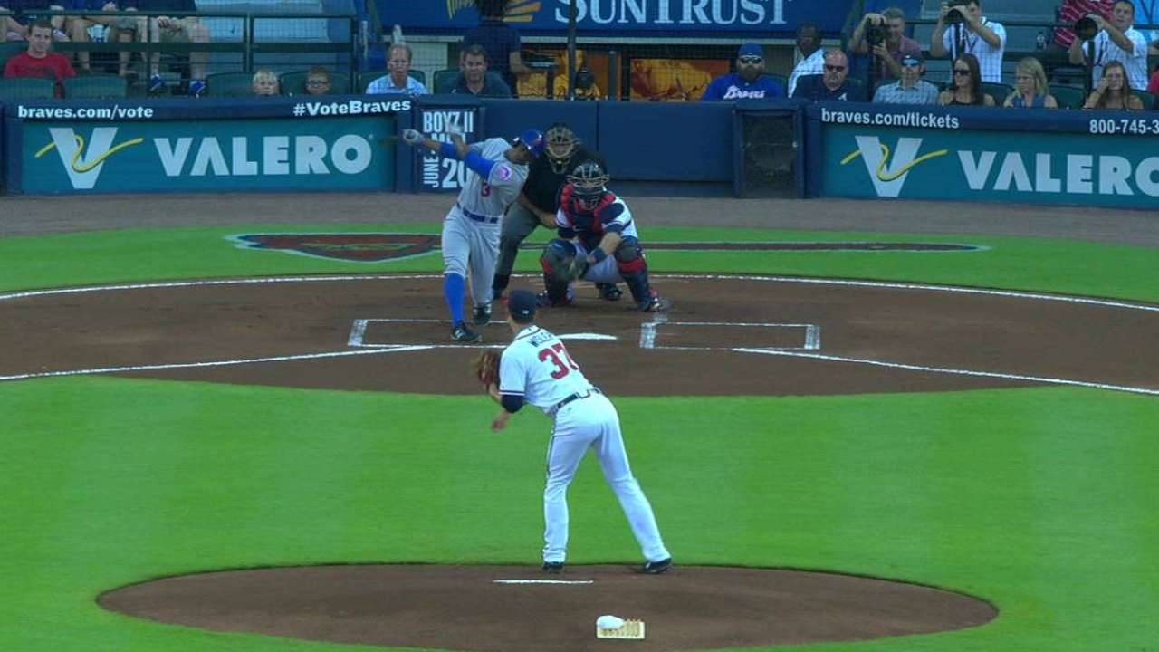 Wisler's first MLB strikeout