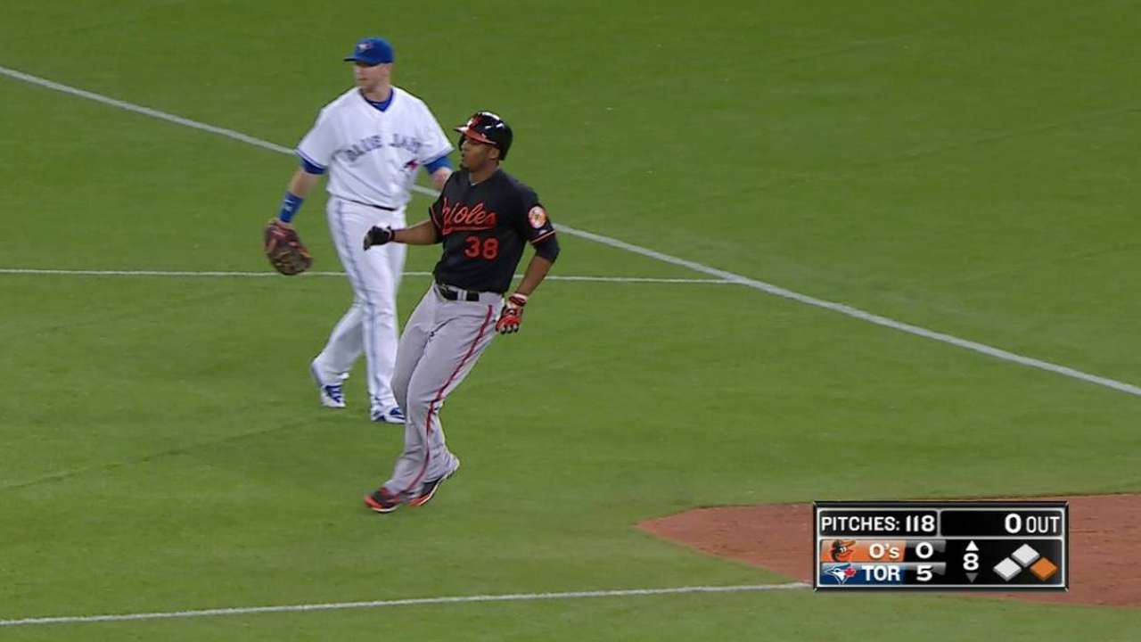 Estrada flirts with no-no as Blue Jays nip Orioles