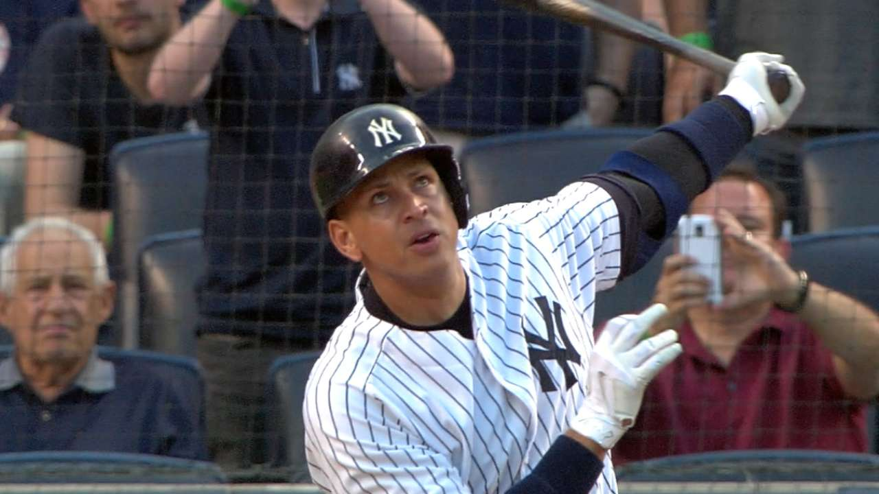A-Rod: 3rd to homer for 3,000th hit