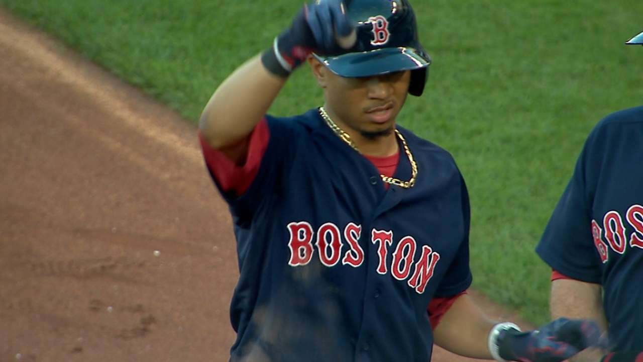 Red Sox tally five in 2nd
