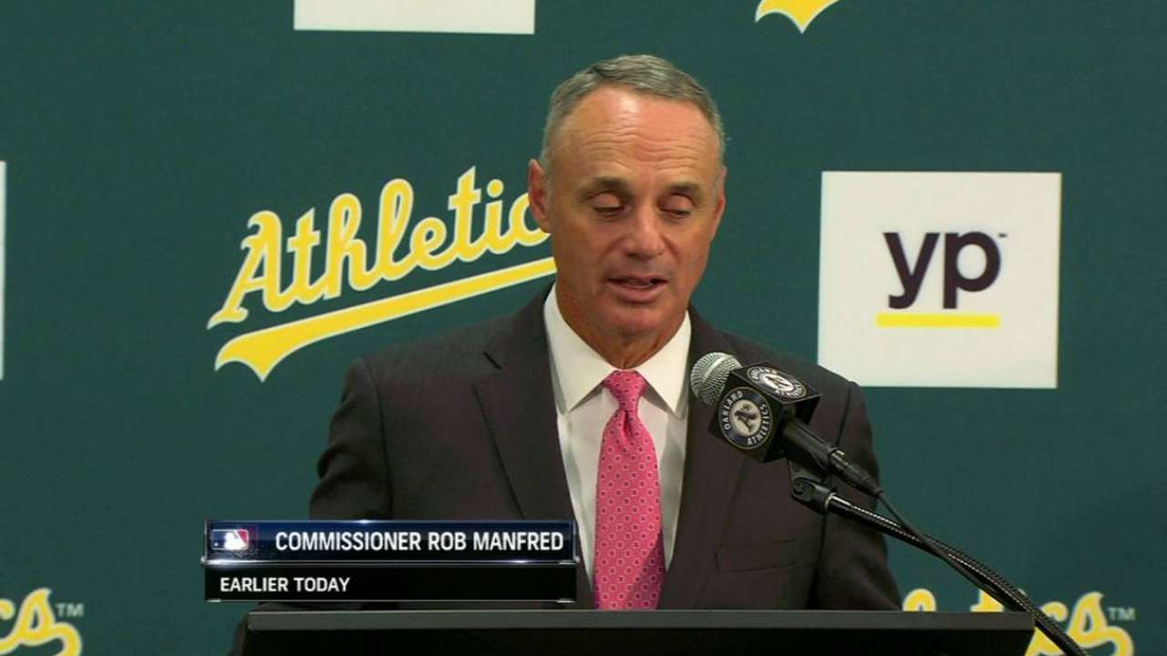 Manfred on being Commissioner