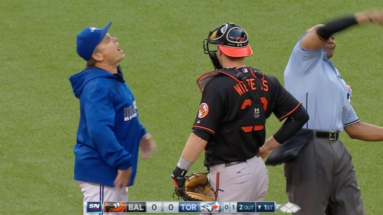 Gibbons, Osuna ejected after early warnings