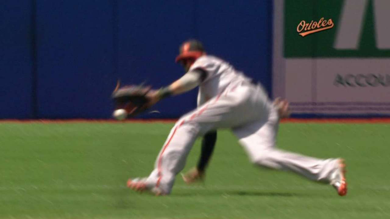 Machado flashes the leather