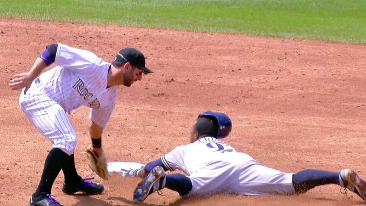 Rockies challenge stolen base
