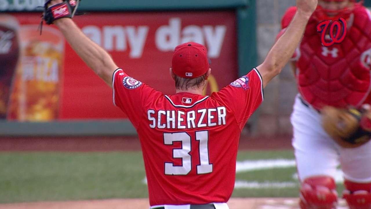 Scherzer throws no-hitter