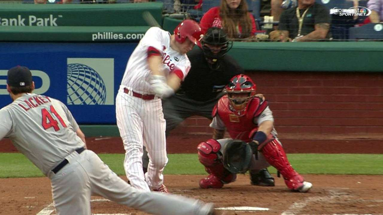 Asche's solo home run