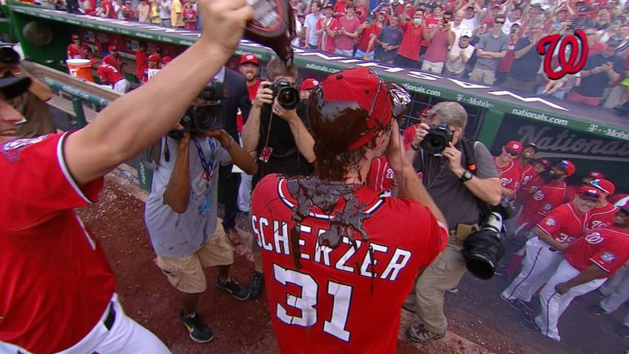 Scherzer gets no-no! But perfect? No way, Jose