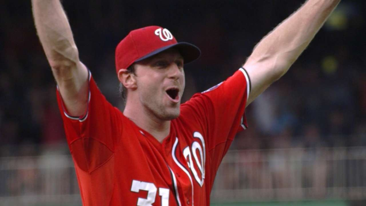 Scherzer named NL Pitcher of the Month
