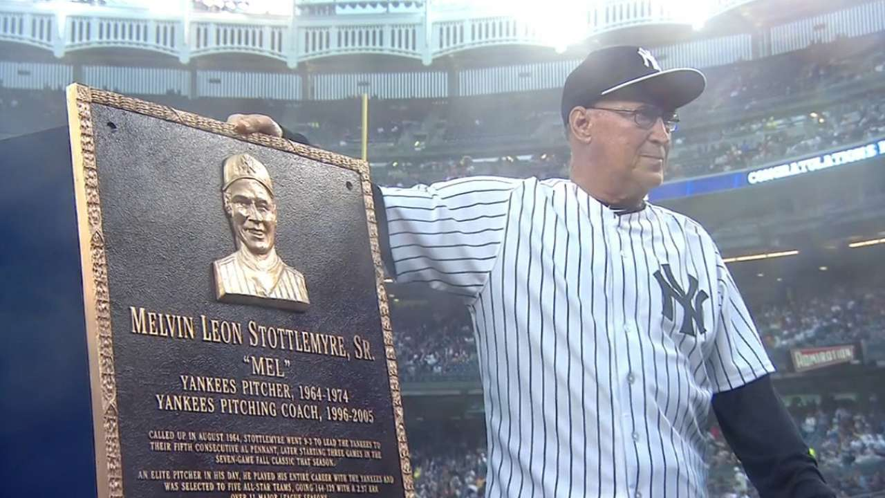 Stottlemyre honored with plaque