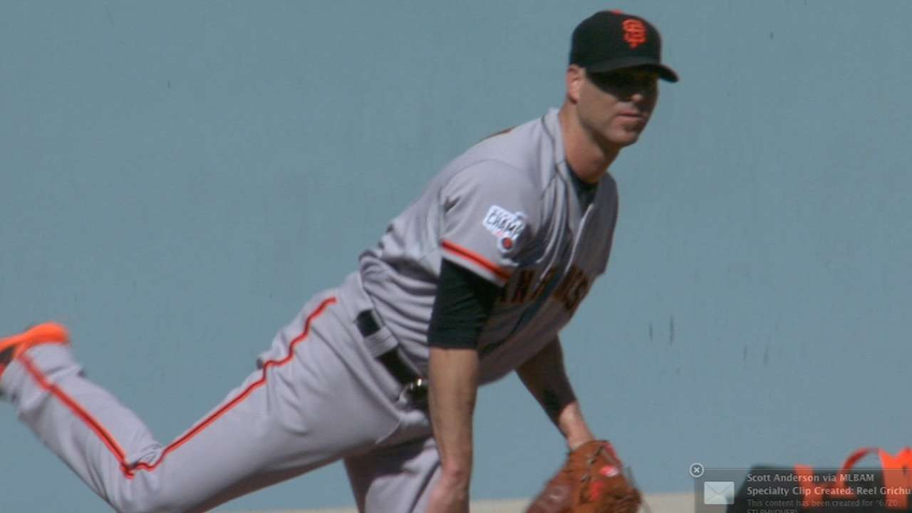 Hudson holds Dodgers to two runs