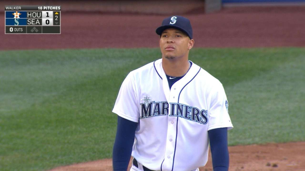 Mariners launch three homers to beat Astros