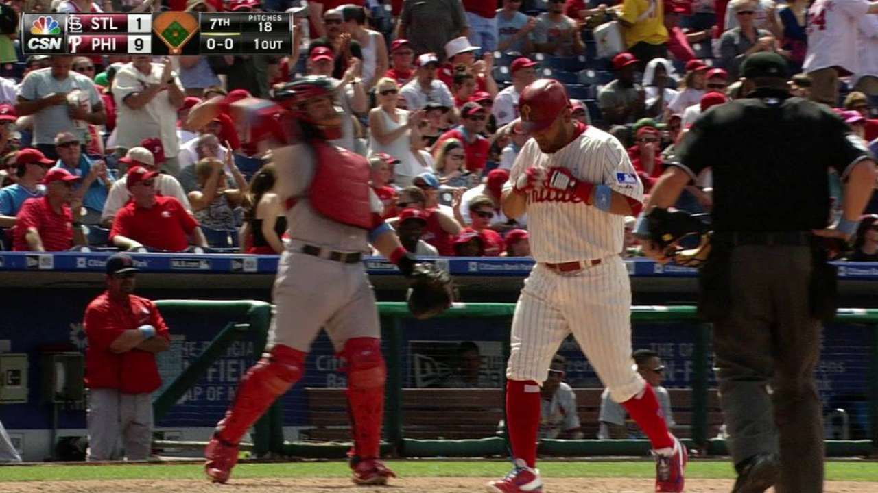 Morgan deals Phils past Cards in MLB debut