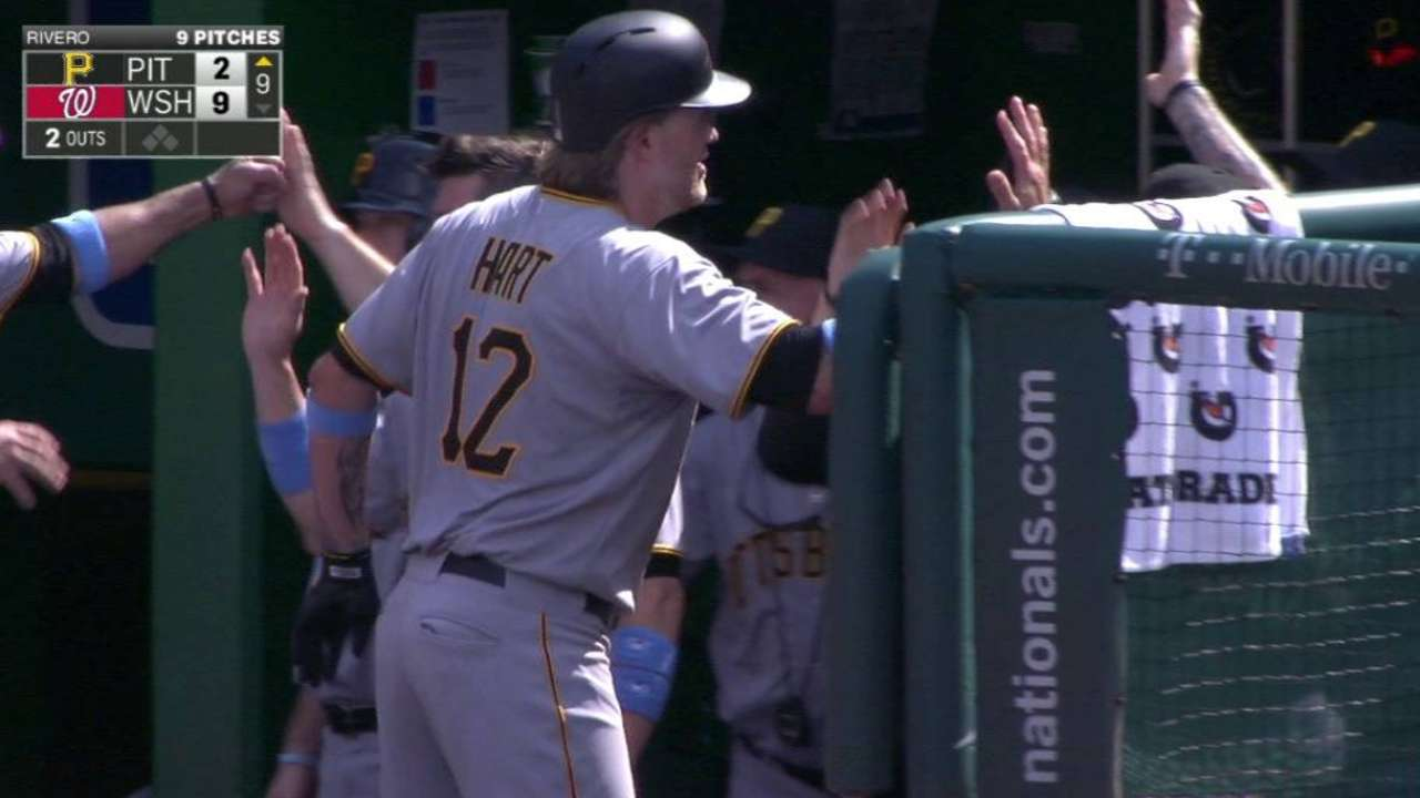 Pirates place Hart on DL, call up Volstad