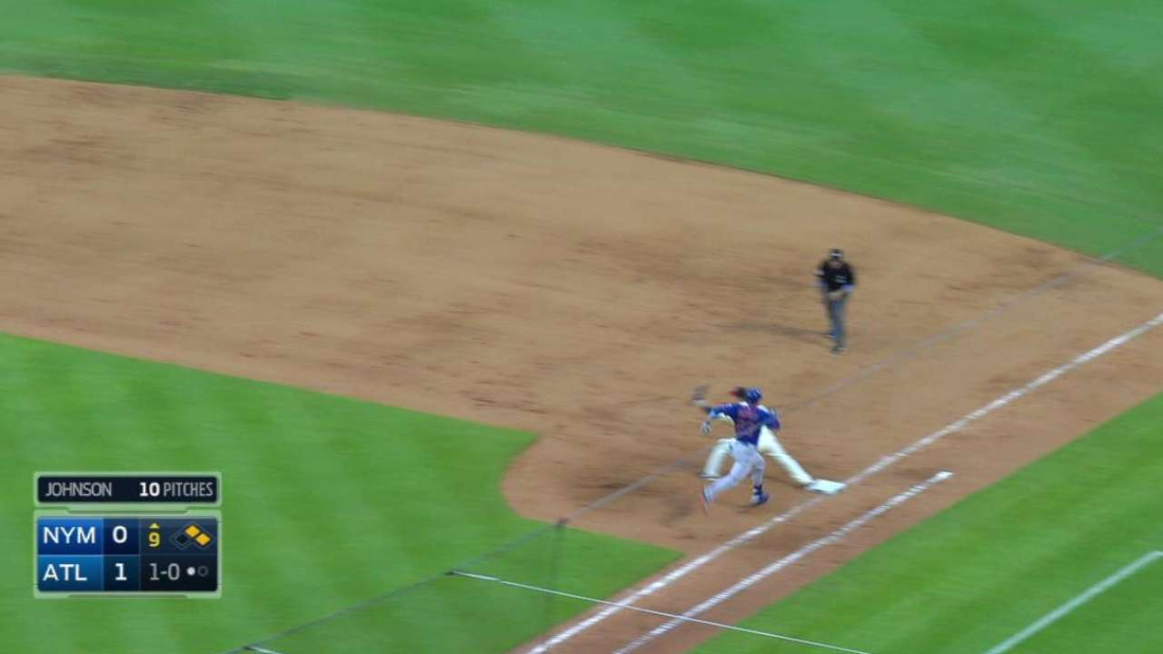Johnson induces double play
