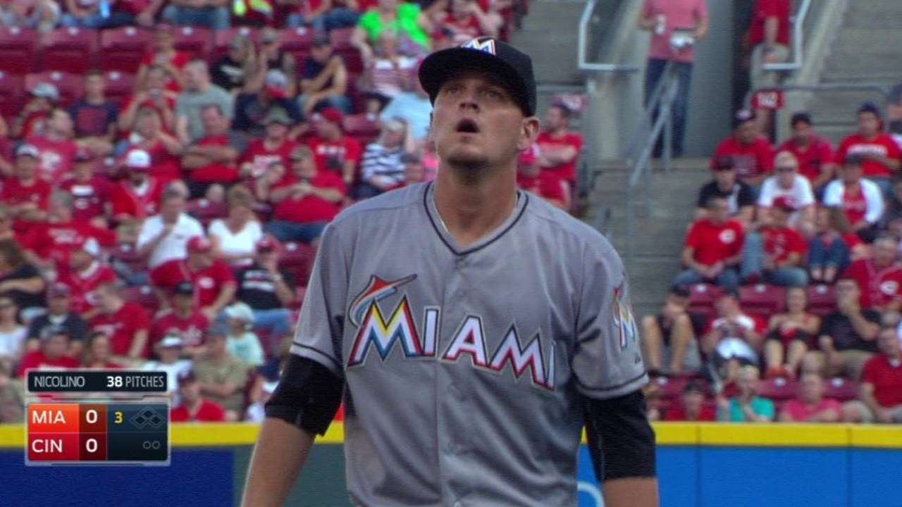 Dietrich's two homers help Nicolino win debut